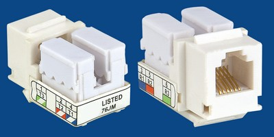 TM-6003 UTP Cat3 Voice keysto TM-6003 Cat3 UTP RJ11 Voice keystone jack - RJ11/12 (CAT3) Voice Keystone Jacks Κίνα κατασκευαστής