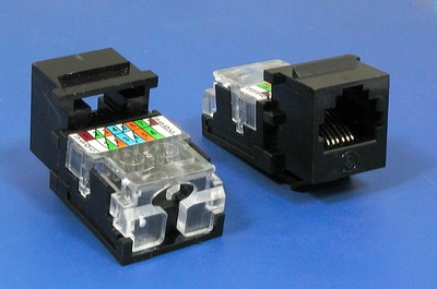 TM-6005 RJ11 Connector Voice  TM-6005 Cat3 RJ11 Connector Voice keystone jack - RJ11/12 (CAT3) Voice Keystone Jacks made in china