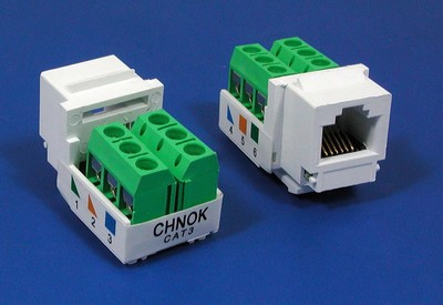 manufactured in China  TM-6006 RJ11 UTP Cat3 Voice keystone jack  corporation