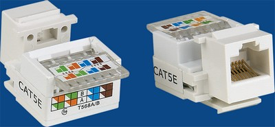TM-8007 Cat.5e Data keystone jack TM-8007 Cat.5e Δικτύου Δεδομένων keystone jack - Cat.6/Cat.5E RJ45 Network Keystone Jacks Κίνα κατασκευαστής