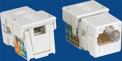 TM-8301 Cat.5e UTP Data keystone jack TM-8301 Cat.5e UTP καλώδιο δεδομένων keystone jack - Cat.6/Cat.5E RJ45 Network Keystone Jacks Κίνα κατασκευαστής